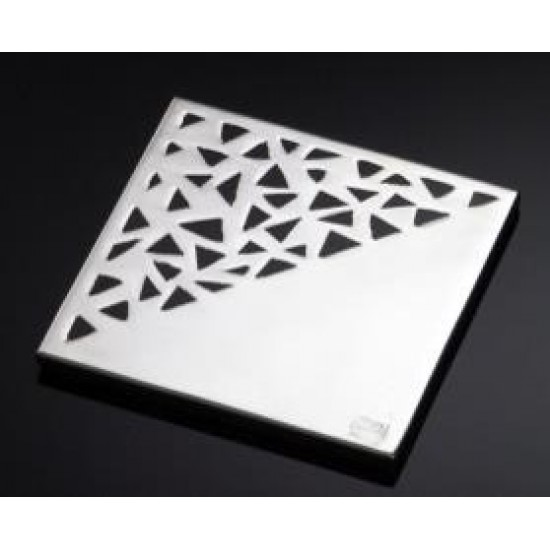 Silver Plated Coaster Triangle On Glass