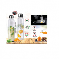 BOROSILICATE GLASS BOTTLE (850 ML APPROX)