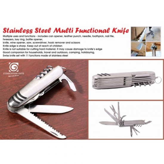 Stainless Steel Multi Mini Pliers with 9 Tools (superior quality)  - Portable Pocket Mini Camping Kit