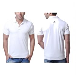 Puma Solid White Polo T-shirt Men's