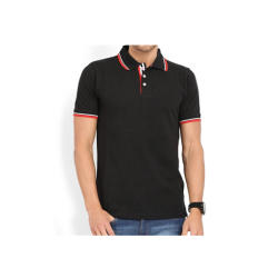 Swiss Military  Mens Polo T-shirt Regular fit Black