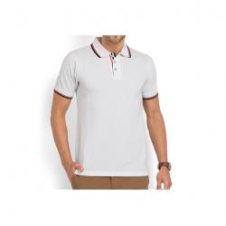 Swiss Military Mens Polo T-shirt - Regular fit - White
