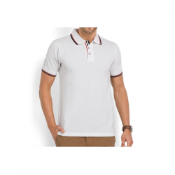 Swiss Military Mens Polo T-shirt - Regular fit - White