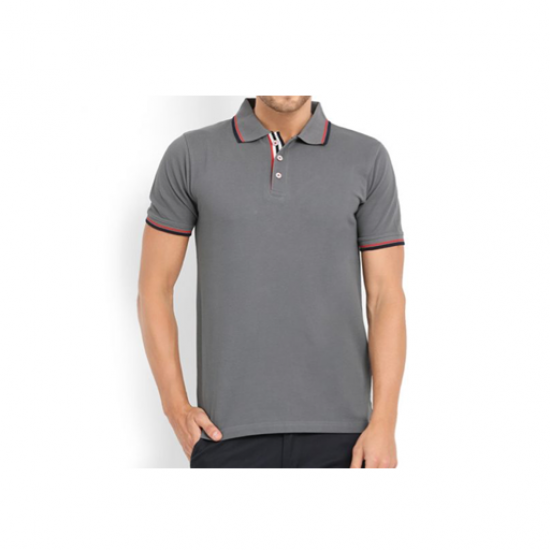 Swiss Military Mens Polo T-shirt -Regular fit - Grey
