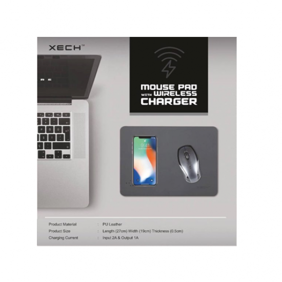 XECH Mouse Pad With Wireless Charger