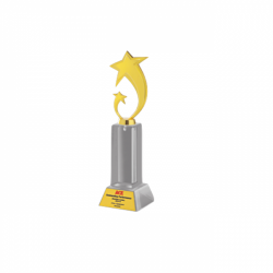 "Acrylic and Metal Trophy L 12"" (CGT- 9353)"