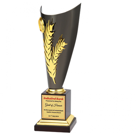 """Wooden and Metal Trophy : Size: L 13.5"""" (CGT- 351)"""