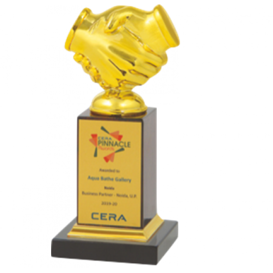 "Wooden and Metal Trophy : Size: L 9"" (CGT- 9325)"