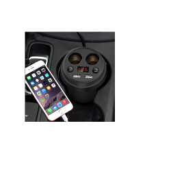 DUAL USB CAR CHARGER WITH EXTRA 12V PORTS - CGP-2518