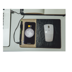 Mouse Pad with Wireless Charger and Pen Loop - CGP-2478