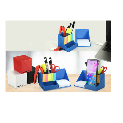 FOLDING USB HUB TUMBLER WITH NOTEPAD AND STICKY PADS | 3 USB PORTS - CGP-2725