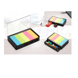 SMALL USB HUB WITH STICKY NOTES AND DRAWER | 3 USB PORTS - CGP-2726