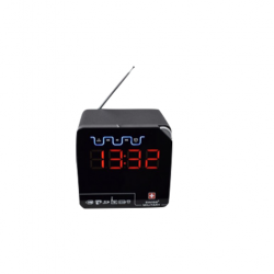 SWISS MILITARY 3-IN-1 BLUETOOTH SPEAKER RADIO CUM DIGITAL CLOCK WITH REMOTE