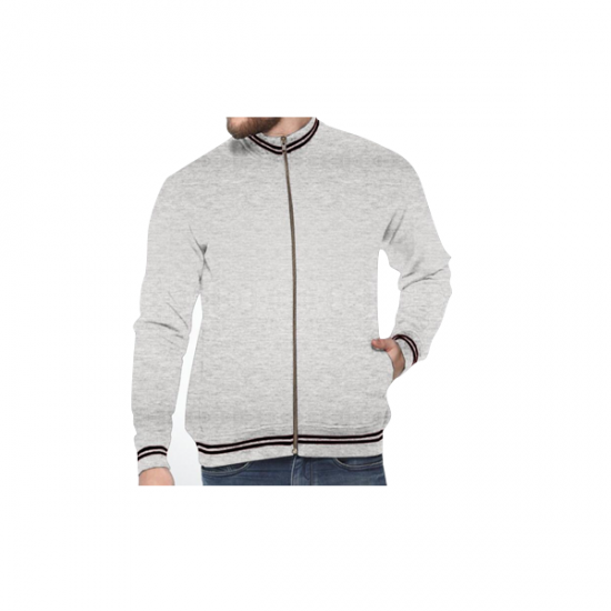 Turtle Neck Sweatshirt - Grey Melange with Black CGP-2838
