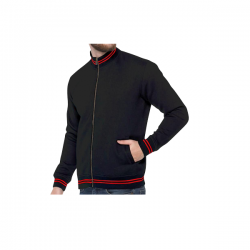 Turtle Neck Sweatshirt - Black with Red CGP-2839