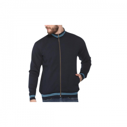 Turtle Neck Sweatshirt - Navy Blue with Electric Blue CGP-2840