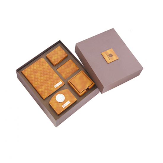 5 pcs Leatherette set in a Corrugated box - CGP-3117