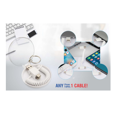 ALL IN 1 CHARGING CABLE WITH TRAVEL CASE AND KEYCHAIN - CGP-2721