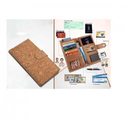 Eco-Friendly Cork Cheque Book Holder / Passport Holder With Sim Card Safe Case - CGP-3108